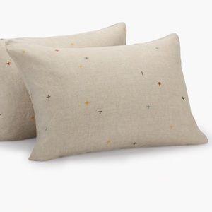 Madewell Coyuchi® Embroidered Linen Pillow Sham